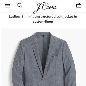 "Men's J. Crew Cotton/Linen ""Ludlow"" Blazer - 42R"